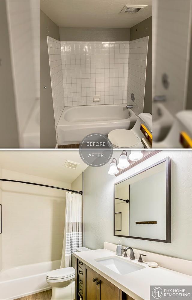 guest bathroom bathtub remodel in phoenix