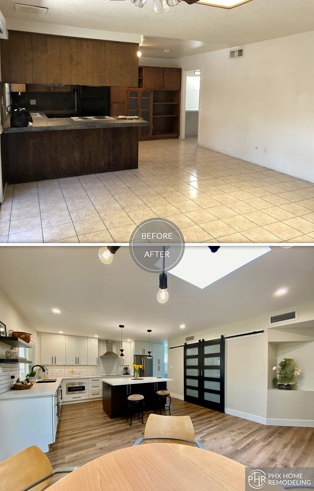 kitchen table flooring remodel in tempe