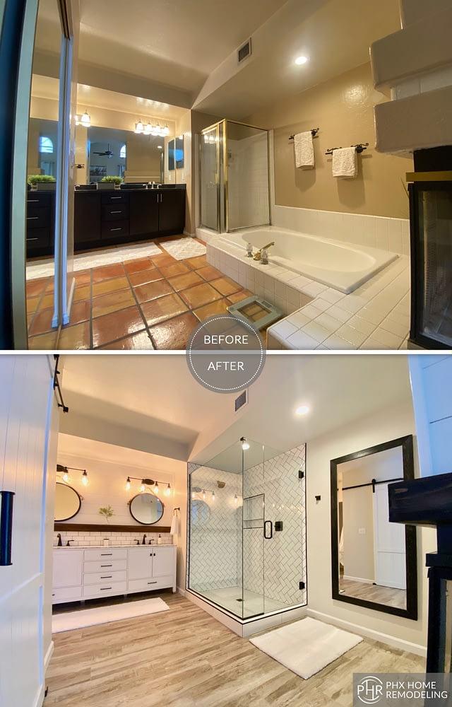 master bathroom remodel in phoenix