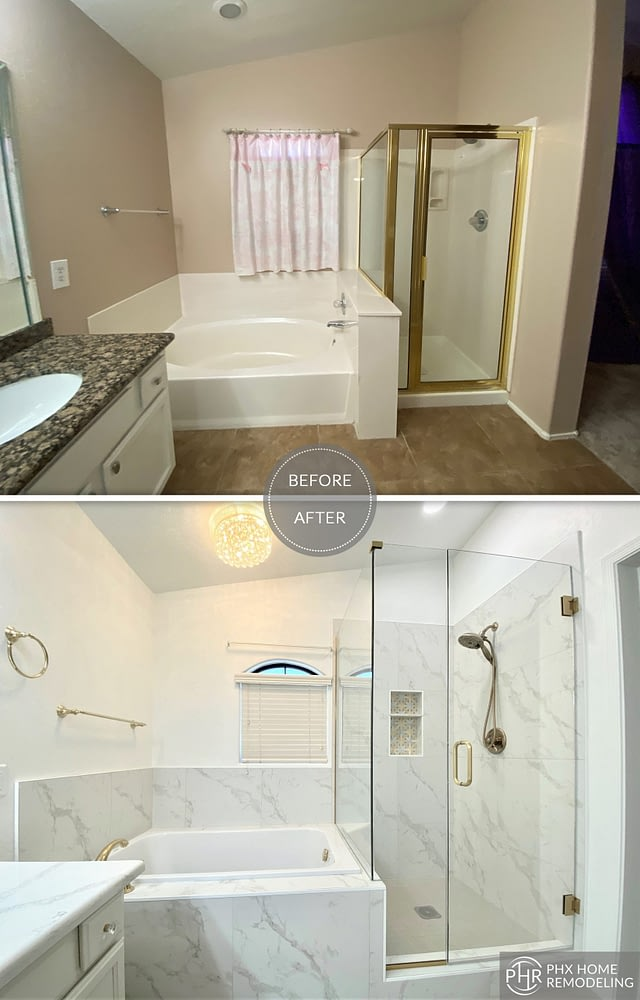 shower and bathtub remodel in chandler