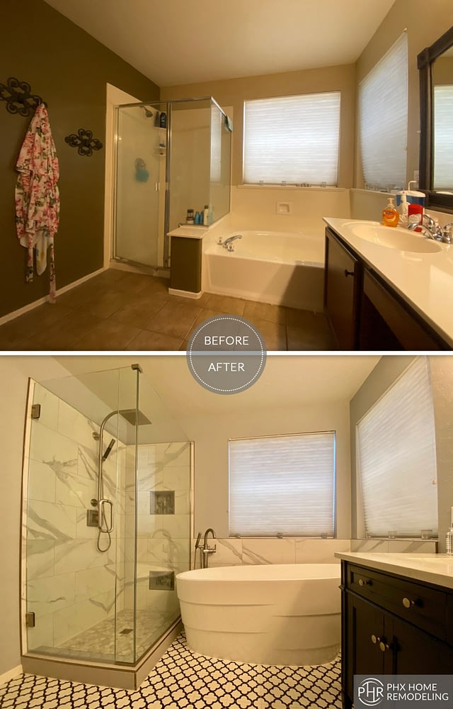 shower and bathtub remodel in phoenix