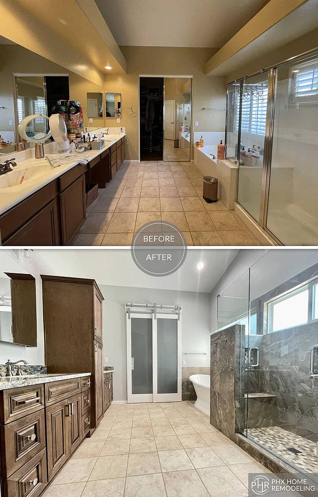 chandler white spacious master bathroom remodeling