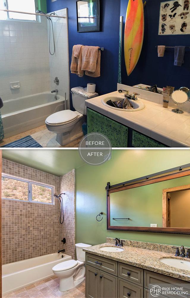 guest bathroom remodel in phoenix