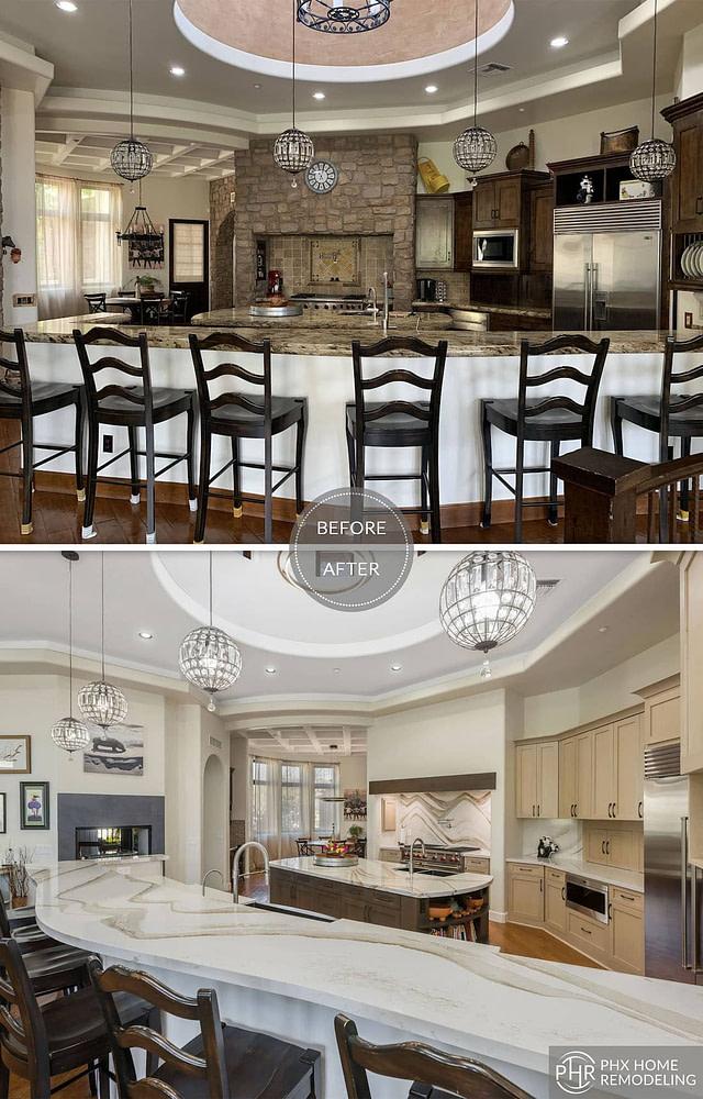 kitchen countertop white remodeling arizona