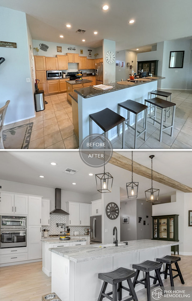 kitchen remodel with new cabinets and countertops phoenix az
