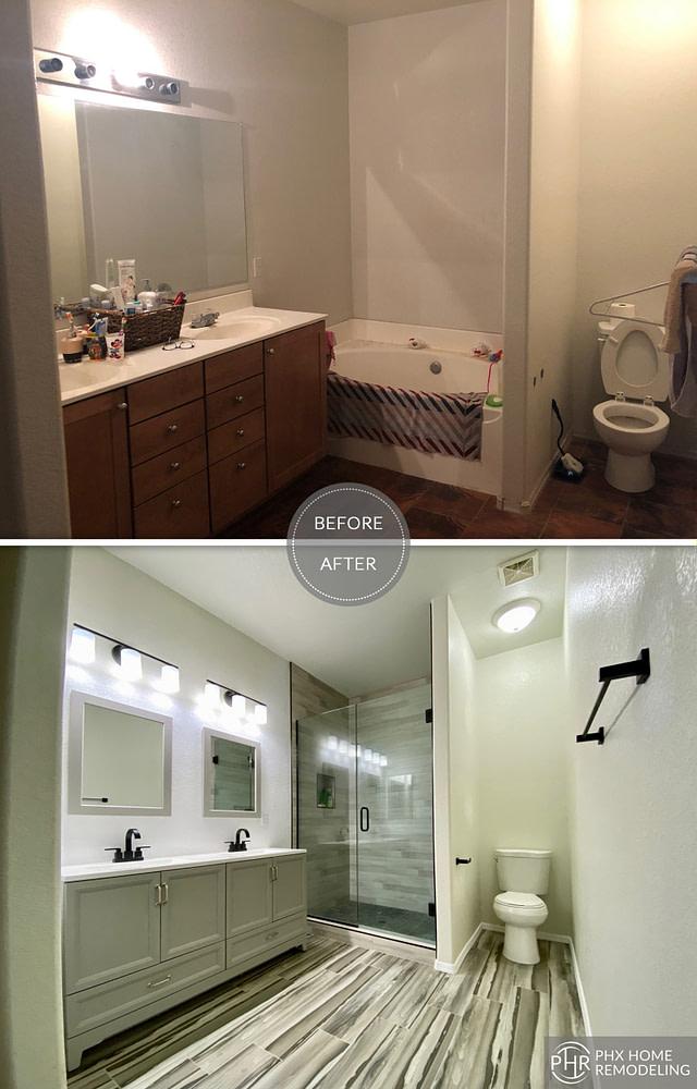 master bathroom remodel in gilbert