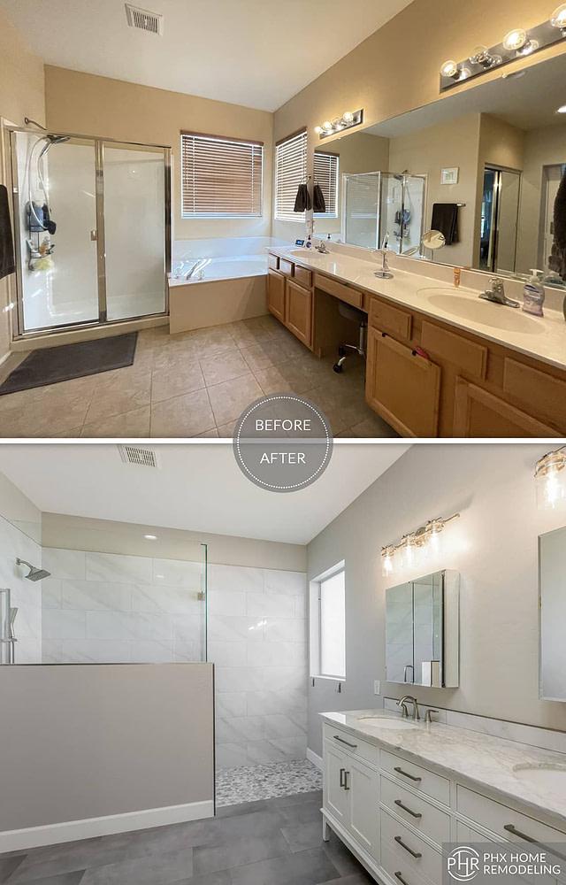 master bathroom shower renovation in chandlert