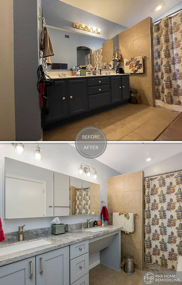 master bathroom vanity countertop remodeling in phoenix az