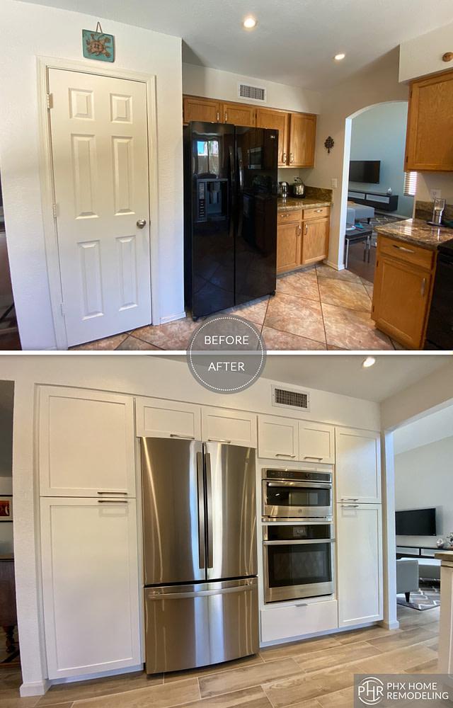 modern kitchen flooring remodel in phoenix