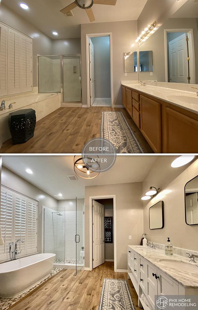 phoenix az master bathroom renovation
