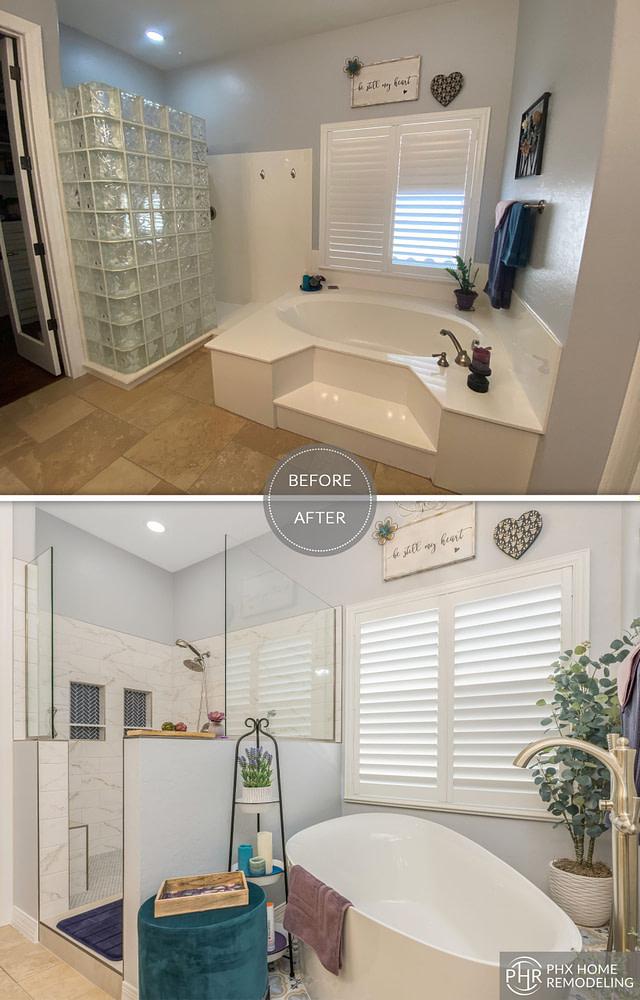 phoenix bathtub renovation white shower arizona