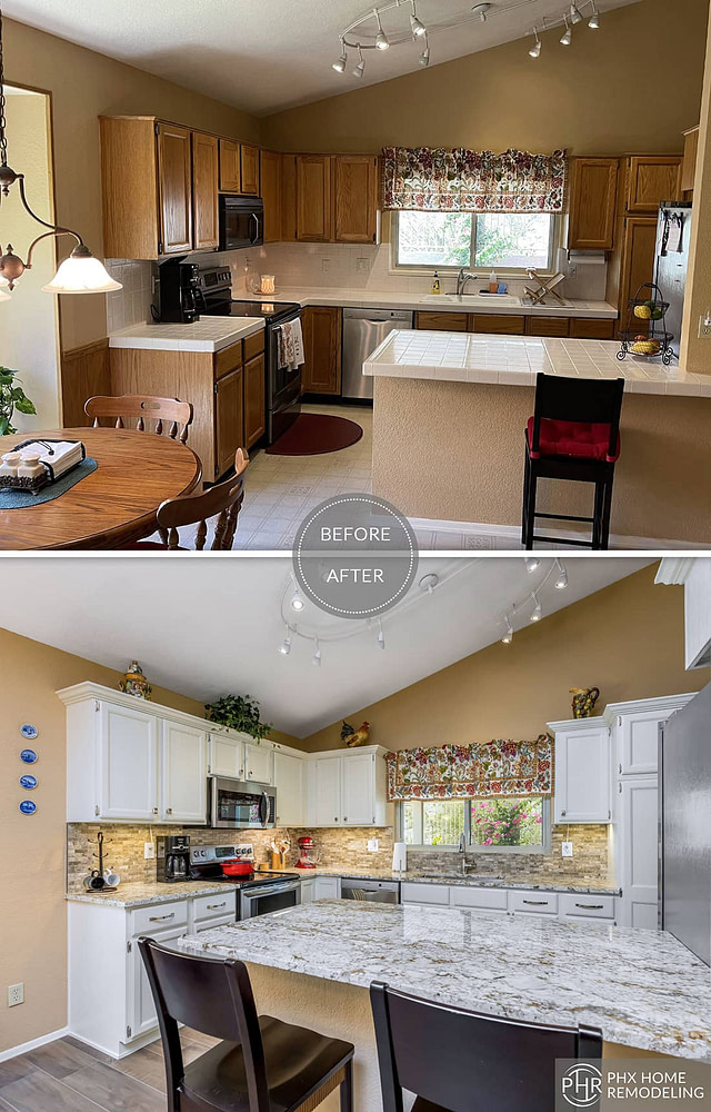phoenix kitchen countertop and backsplash renovation az