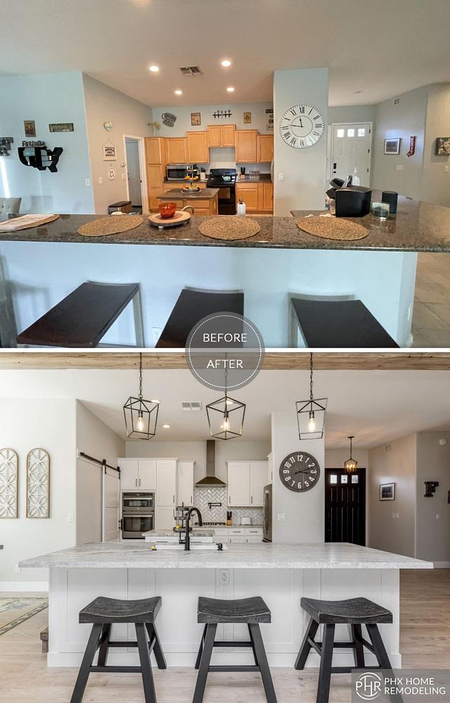 phoenix white countertop kitchen renovation az