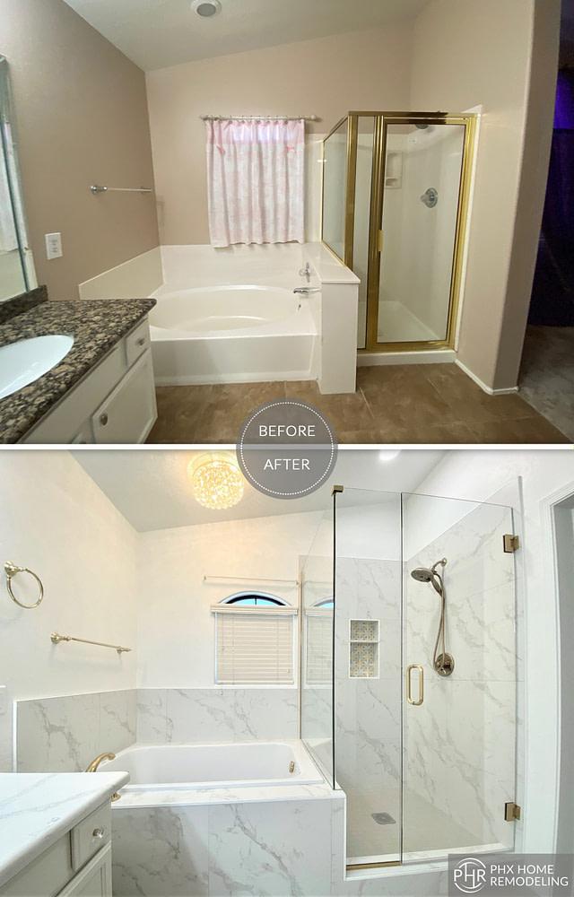shower and bathtub remodel in chandler