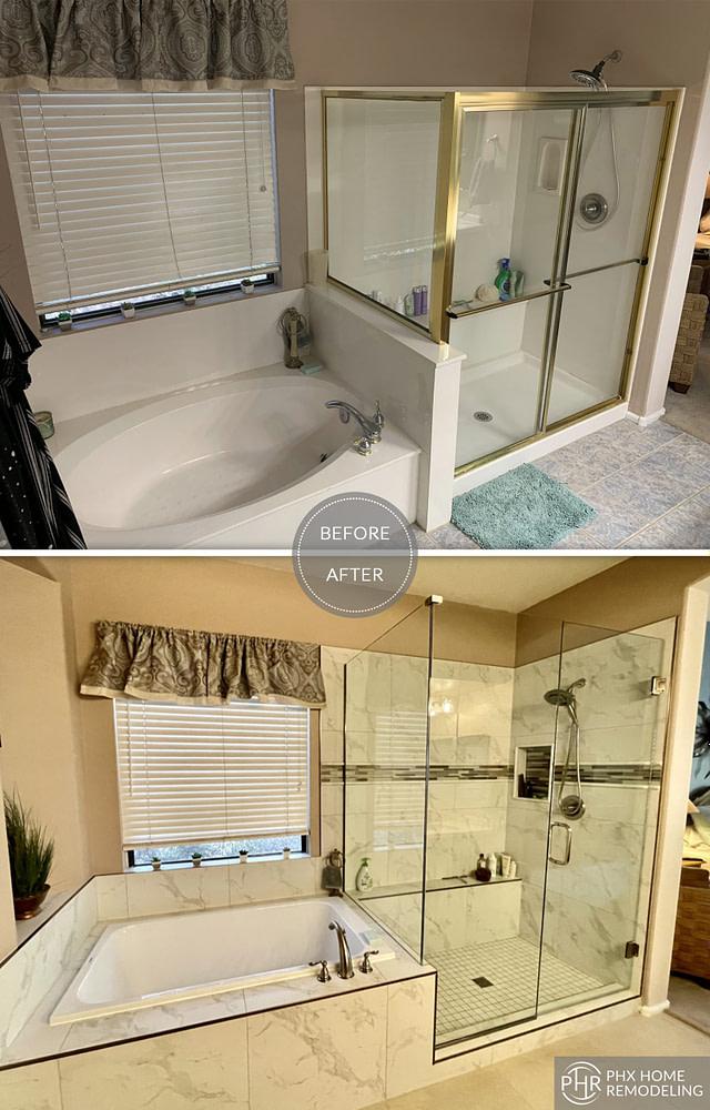 shower bathroom bathtub renovation phoenix az