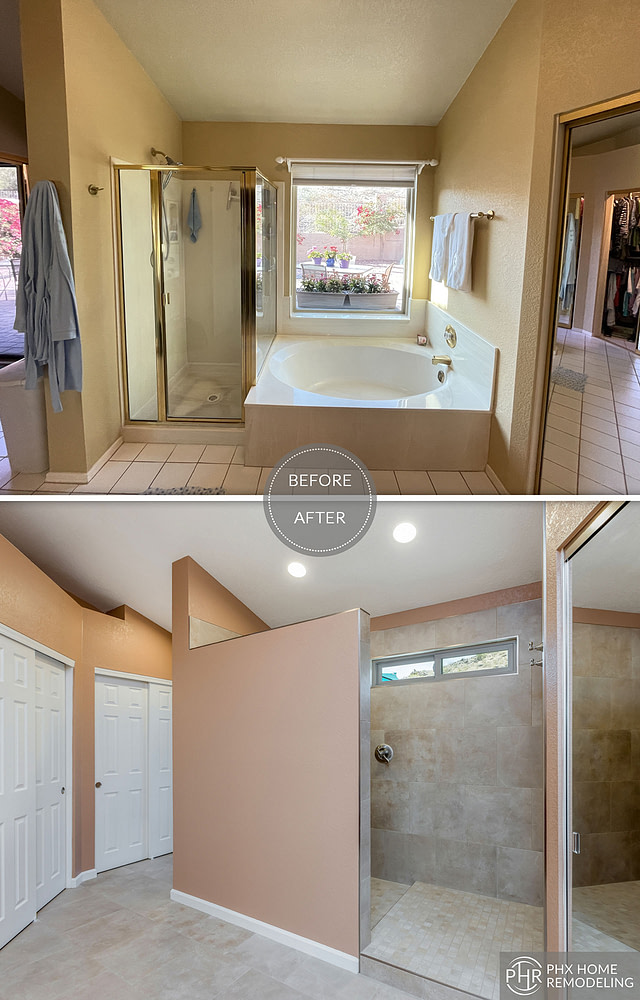 shower wall and shower floor remodeling in phoenix az