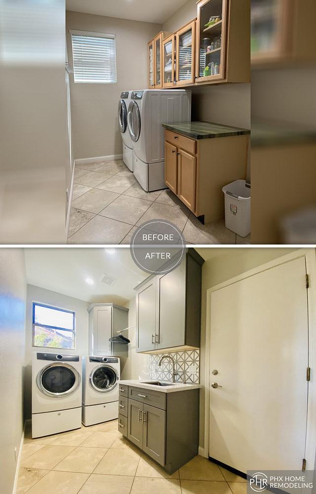 simple laundry room renovation arizona