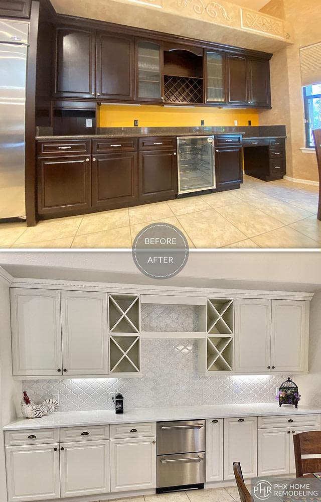 white kitchen cabinet remodel chandler