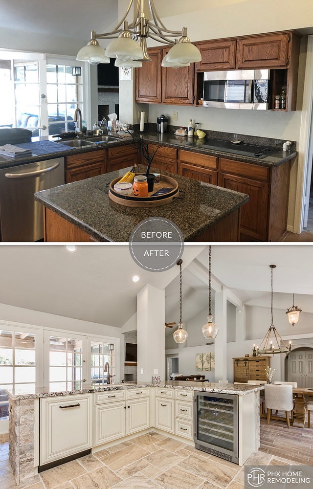 white kitchen remodel in tempe