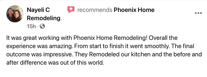 Dora Naylei Review of kitchen remodel