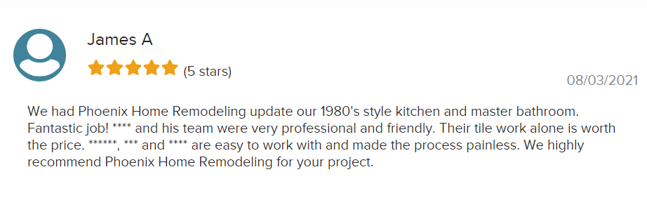 James A. - Review - Kitchen Remodel