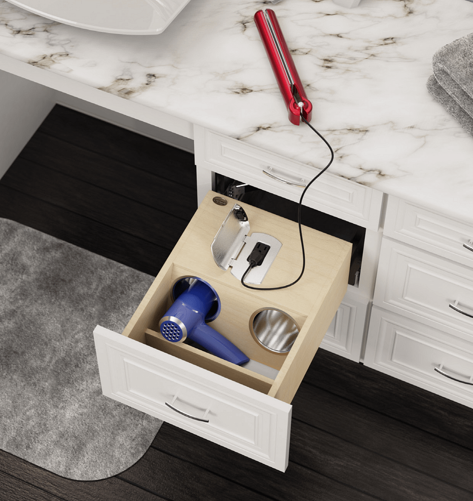 bathroom drawer storage