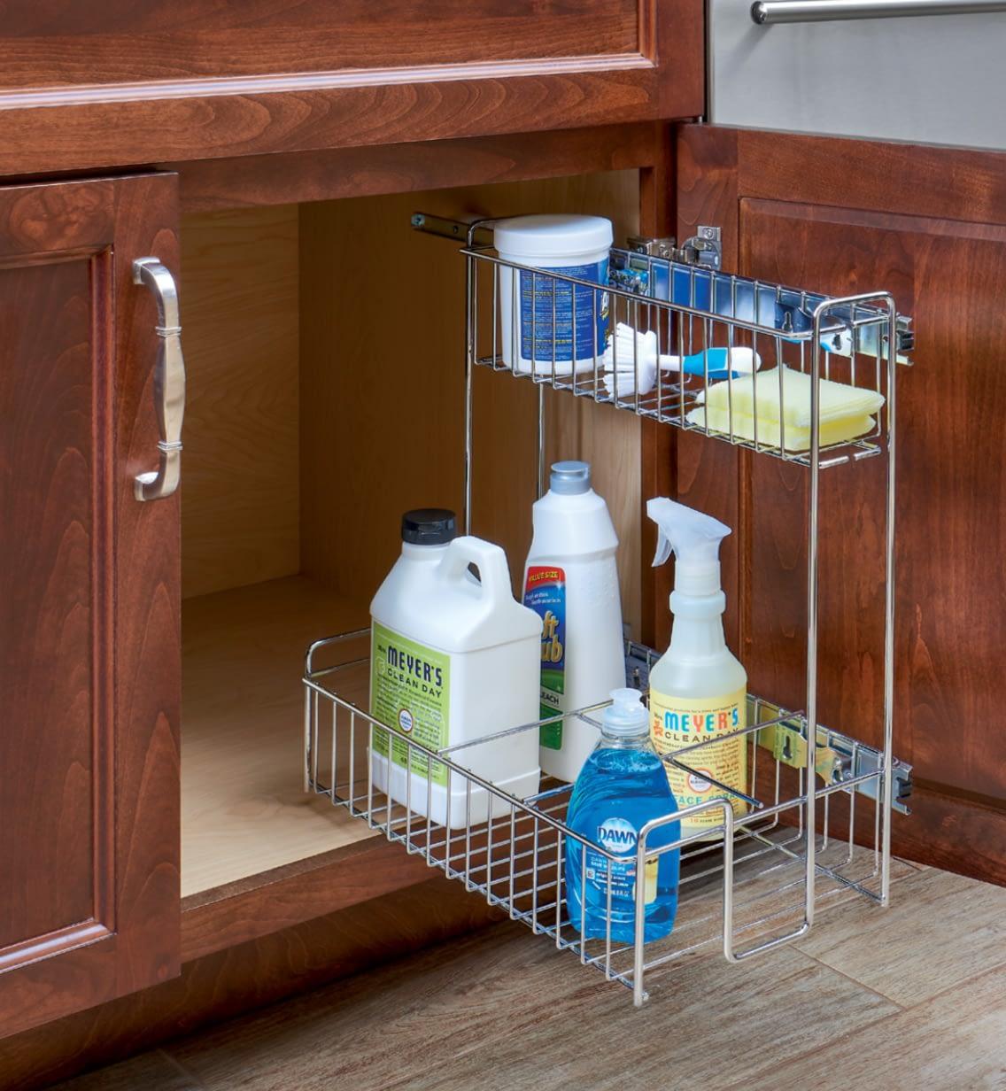 wire rack sink storage