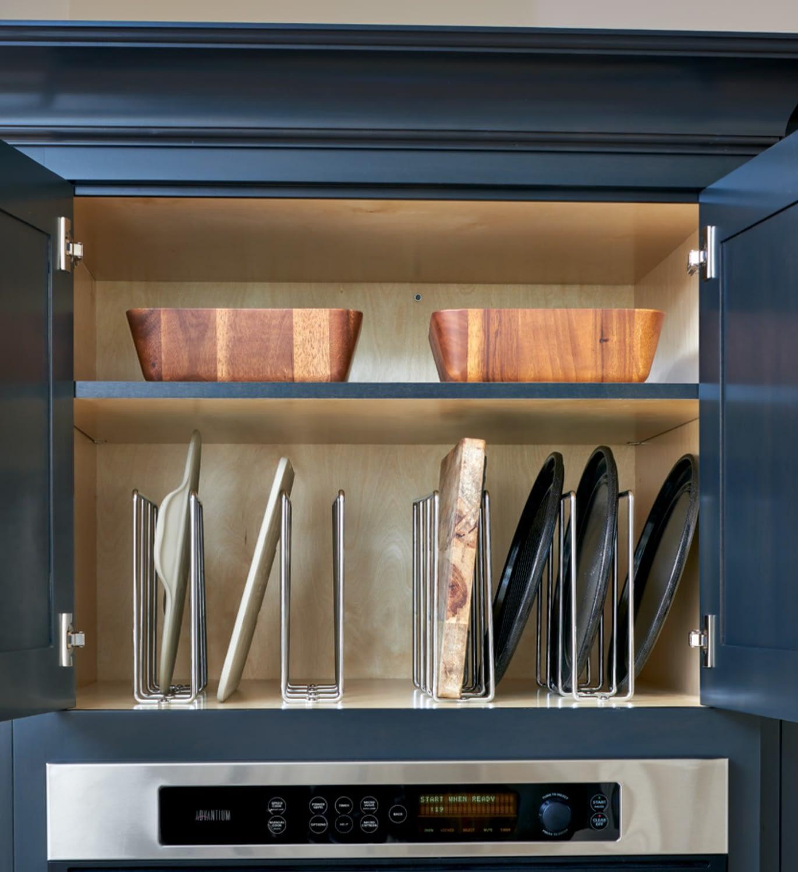 upper cabinet shelving storage