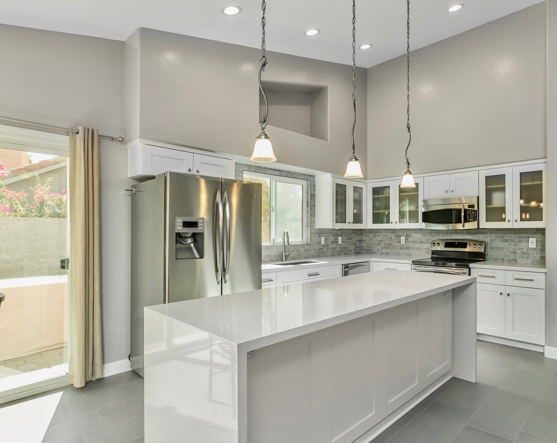 white kitchen remodel in Ahwatukee,az