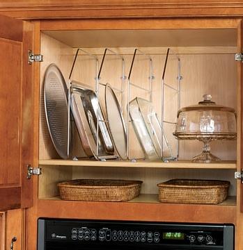 glass shelf organizer