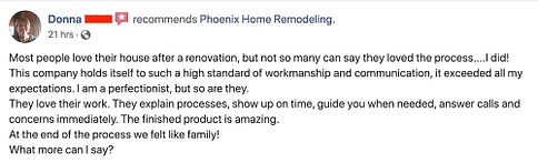 Donna Wirth Review of kitchen remodel Tempe AZ