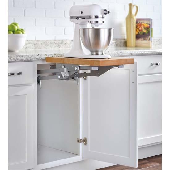 Kitchen storage mixer