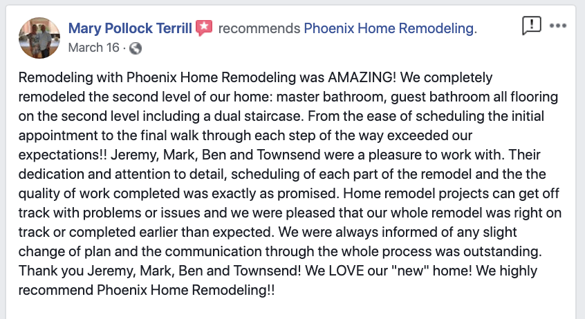 Mary Terrill FB review