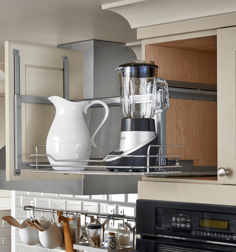 upper kitchen cabinet slide out
