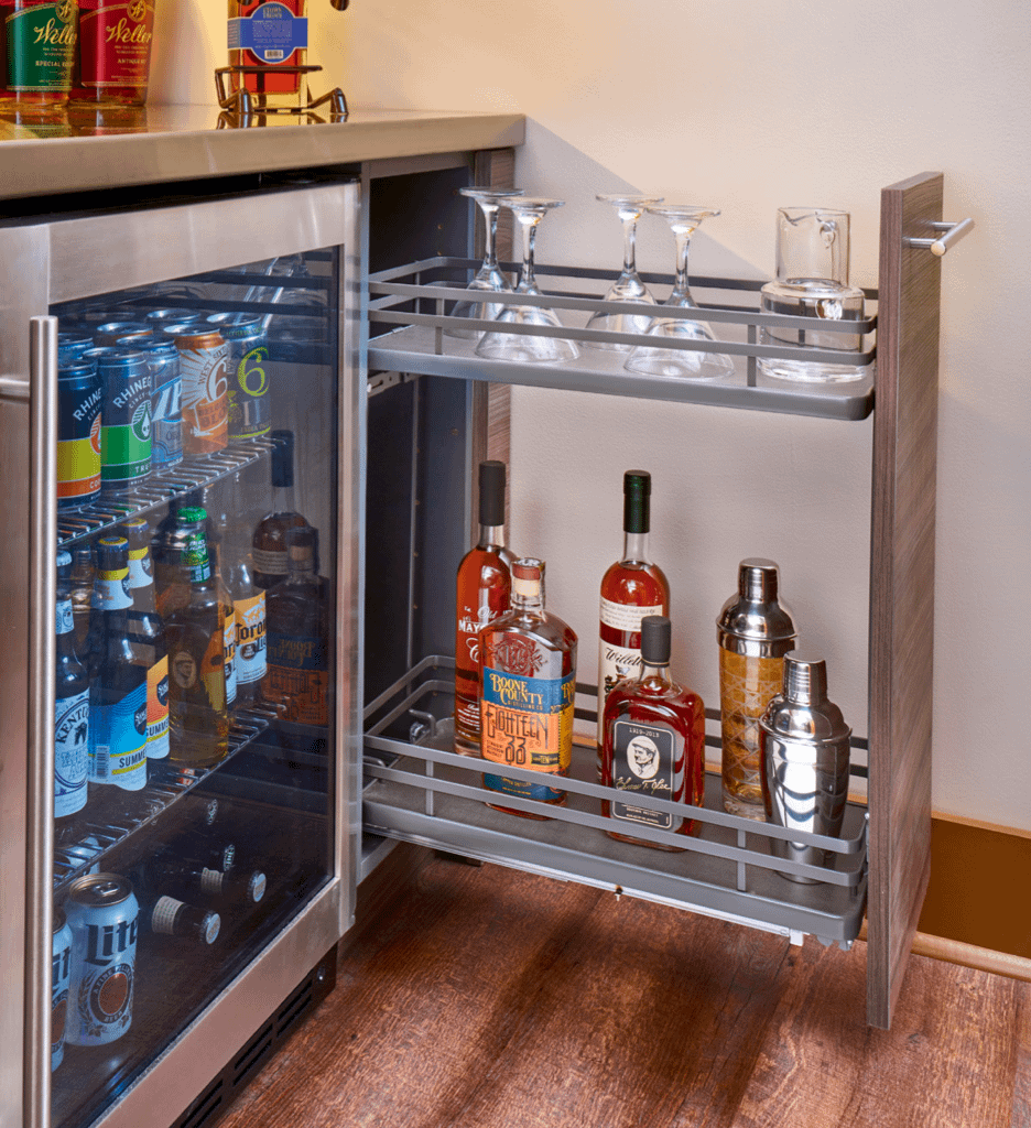bar pull out storage
