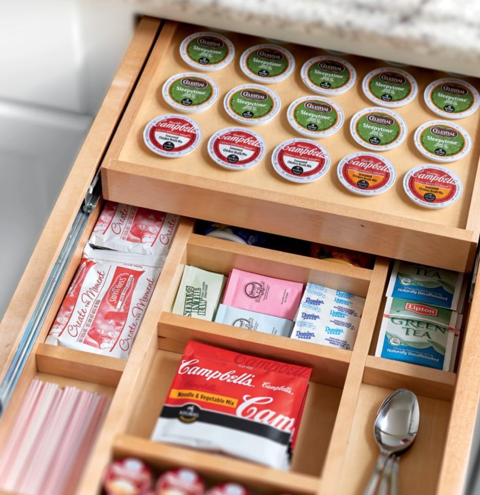 keurig kitchen drawer storage organizer