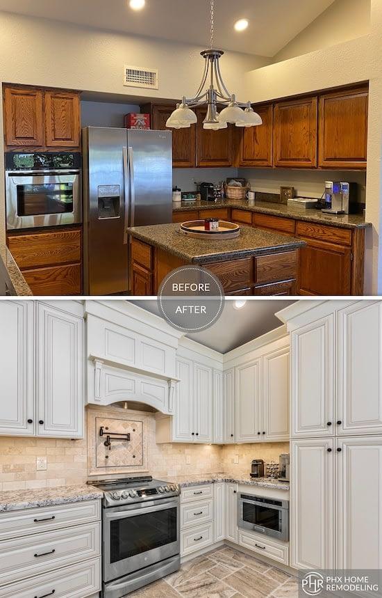clean white kitchen remodel in tempe