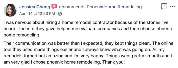 Jessica Change review of PHR